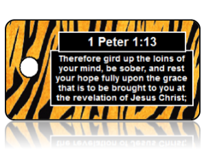 1 Peter 1:13 Bible Scripture Key Tag