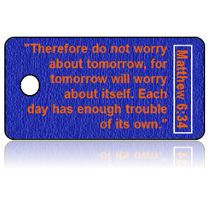 Matthew 6:34 Bible Scripture Key Tags