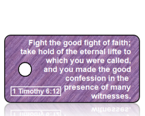 1 Timothy 6 vs 12 - Purple Texture Fabric