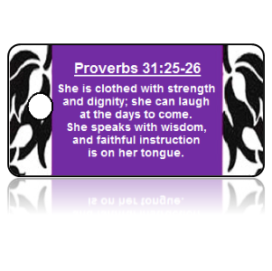 Proverbs 31:25-26 Bible Scripture Key Tags