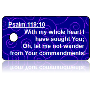 Psalm 119:10 Bible Scripture Key Tags