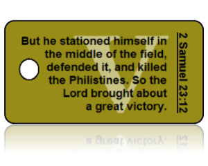 2 Samuel 23:12 Bible Scripture Key Tags