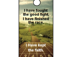 2 Timothy 4:7 Bible Scripture Key Tag (ESV)