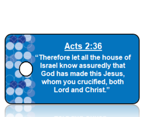 Acts 2:36 Bible Scripture Key Tags