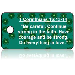 1 Corinthians 16:13-14 Bible Scripture Key Tags