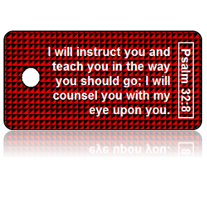 Psalm 32:8 Bible Scripture Key Tags