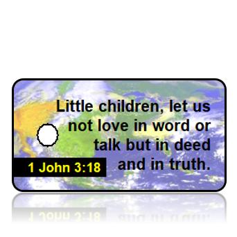 1 John 3:18 Bible Scripture Key Tags