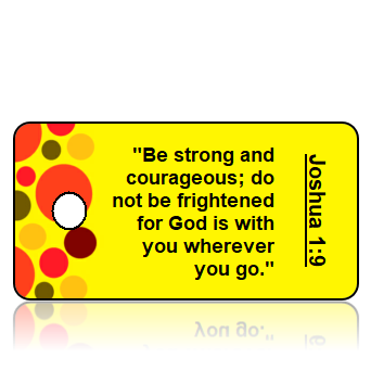Joshua 1:9 Bible Scripture Key Tag