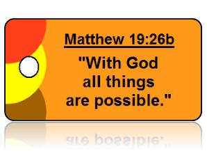Matthew 19:26b Bible Scripture Key Tag
