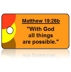 Matthew 19:26b Bible Scripture Key Tag