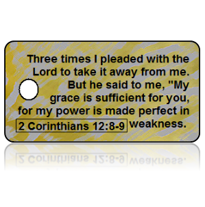 2 Corinthians 12:8-9 Bible Scripture Key Tag (NIV)