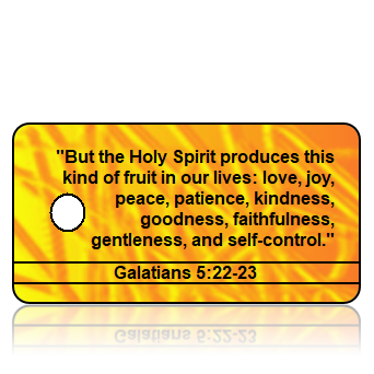 Galatians 5:22-23 Bible Scripture Yellow Key Tags