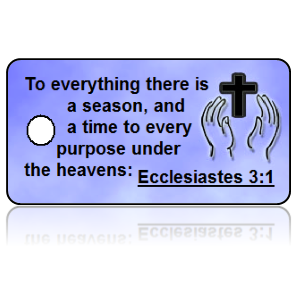 Ecclesiastes 3:1 Bible Scripture Cross Key Tags