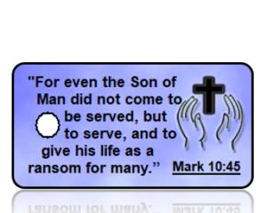 Matthew 10:45 Bible Scripture Key Tags