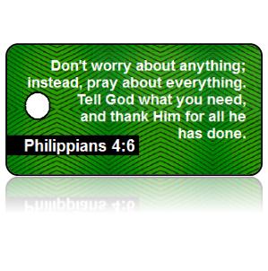 Philippians 4:6 Bible Scripture Key Tags