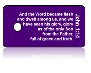 John 1:14 Bible Scripture Key Tags