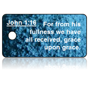 John 1:16 Bible Scripture Key Tags