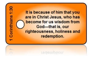 1 Corinthians 1:30 Bible Scripture Key Tags