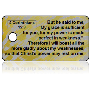 2 Corinthians 12:9 Bible Scripture Key Tag (ESV)