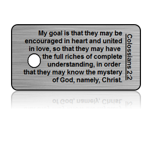 Colossians 2:2 Bible Scripture Key Tags
