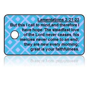 Lamentations 3:21-23 Bible Scripture Key Tags