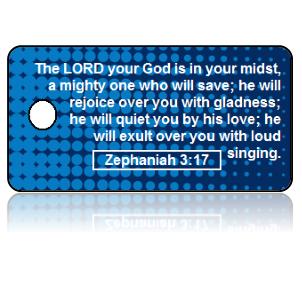 Zephaniah 3:17 Bible Scripture Key Tags