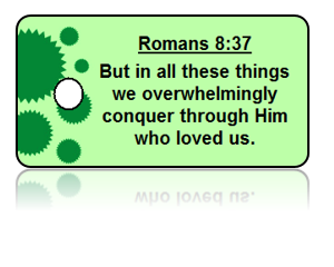 Romans 8:37 Bible Scripture Key Tag