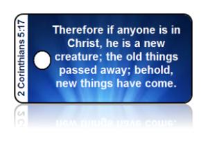 2 Corinthians 5:17 Bible Scripture Key Tags