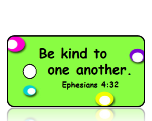 Ephesians 4:32 Bible Scripture Kindness Key Tag