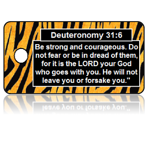 Deuteronomy 31:6 Bible Scripture Key Tags