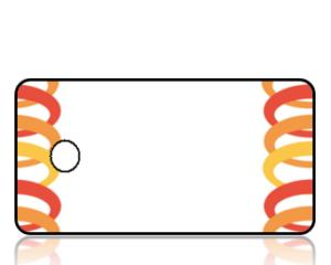 Create Design Key Tags Orange Rings