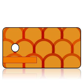 Create Design Key Tags Modern Orange Red Shingle Pattern