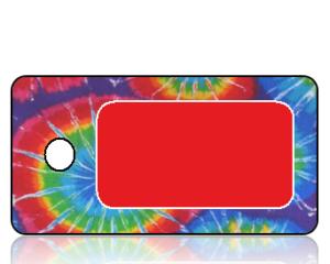 Create Design Key Tags Multi Color Tie-Dye
