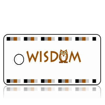 Create Design Key Tags Wisdom Owl Earth Tones
