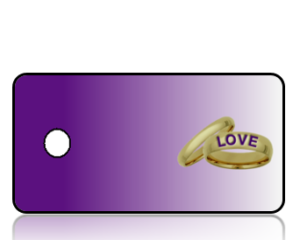 Create Design Key Tags Wedding Rings Purple Background