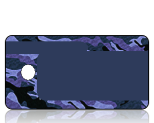 Create Design Key Tags Blue Camouflage
