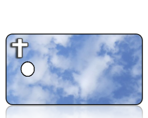 Create Design Key Tags Blue Clouds White Cross