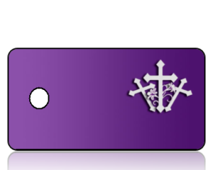 Create Design Key Tags Purple Background Three White Crosses