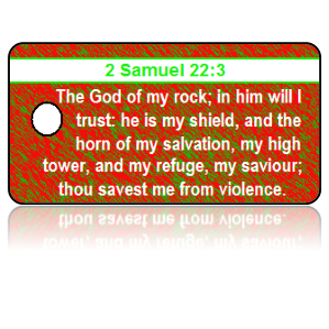 2 Samuel 22:3 Holiday Scripture Key Tag