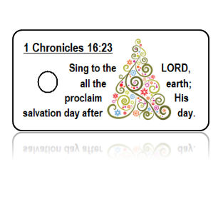 1 Chronicles 16:23 Sing Scripture Key Tags (NIV)