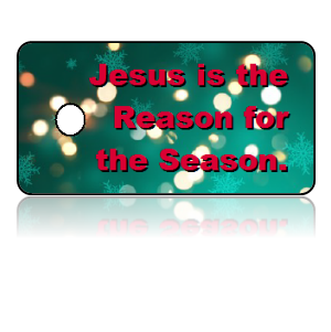 Jesus Reason Holiday Scripture Key Tags