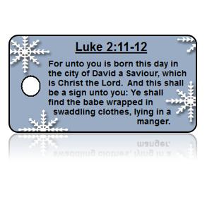Luke 2:11-12 Holiday Scripture Key Tags
