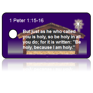 1 Peter 1:15-16 Holiday Scripture Key Tags