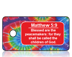 Matthew 5:9 Bible Scripture Peacemaker Key Tag