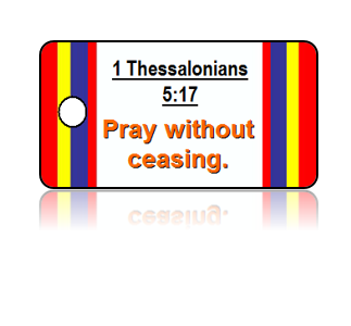 1 Thessalonians 5:17 Bible Scripture Key Tags
