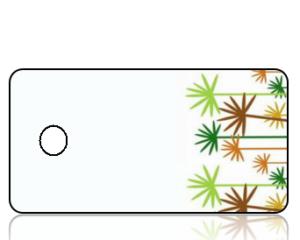 Create Design Key Tags Sideways Palm Trees Modern
