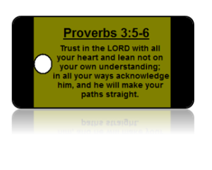 Proverbs 3:5-6 Bible Scripture Key Tags