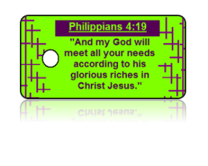 Philippians 4:19 Bible Scripture Key Tags