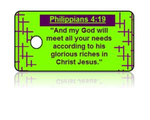 Philippians 4:19 Bible Scripture Key Tags