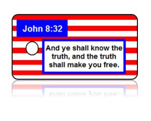 John 8:32 Bible Scripture Key Tags
